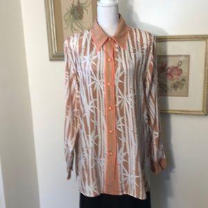 Bob Mackie Wearable Art Long Sleeve Blouse Sz.L